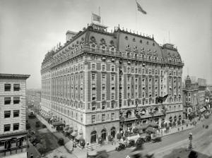 Отель Астор Таймс-Сквер, Нью-Йорк 1909 год