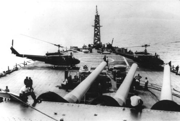 USS New Jersey (BB-62) off Vietnam