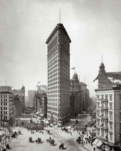New York circa 1905. Flatiron Building, Broadway and Fifth Avenue
