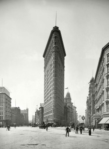 New York circa 1905. The Flatiron building The iconic proto-skyscraper early in its life