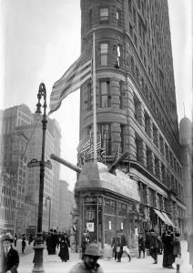 Апрель 1917 года. Вооруженный Flatiron Building