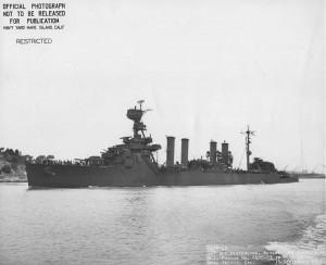 USS Richmond off Mare Island Navy Yard, 15 September 1943