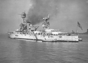 In 1937 with Admiral Hugh Rodman President's personal representative  New York (BB-34) sailed to take part in the Grand Naval Review of 20 May 1937