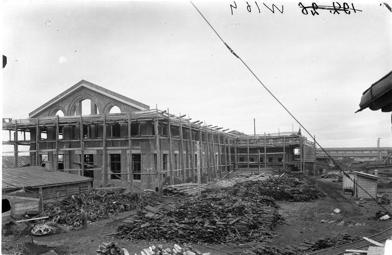 Строительство цеха завода Красный пахарь 1925-30