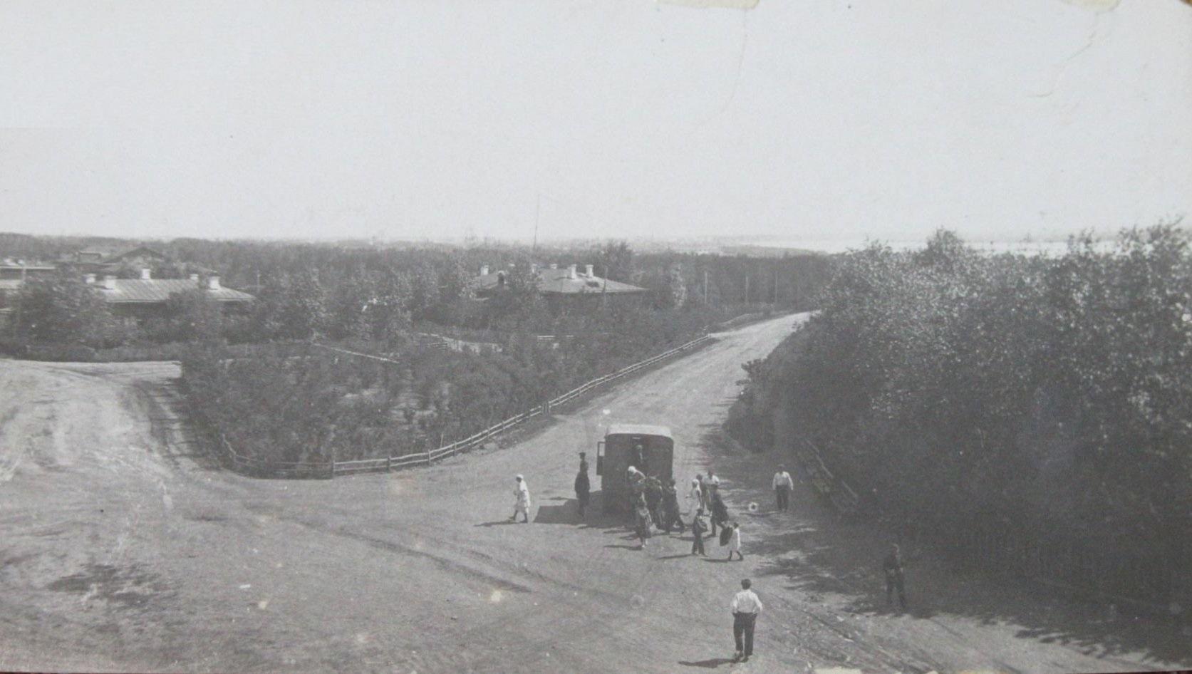 Вид на Иртыш, с высоты, с Главного здания Корпуса Сельско-Хозяйственного Института 1920-е