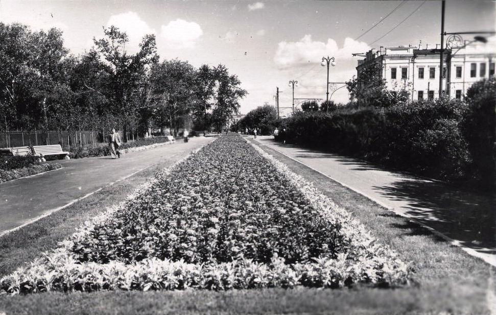 Бульвар на улице ленина 1957