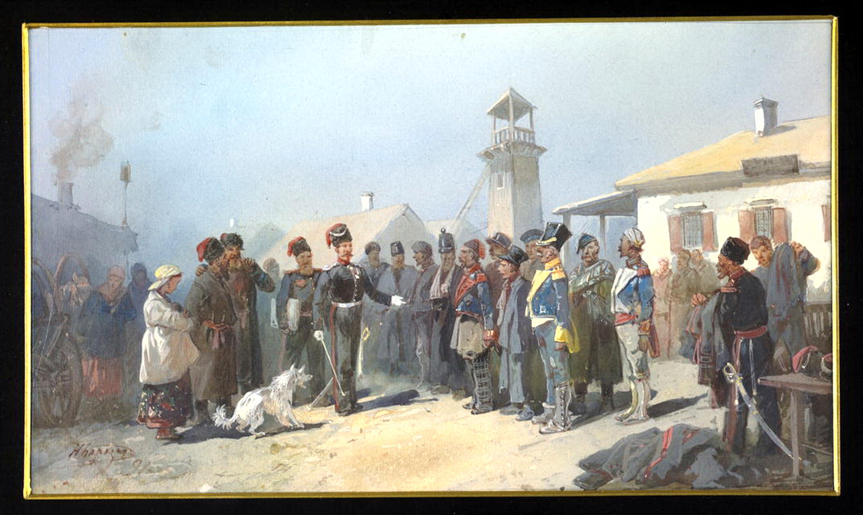 Zachisleniy_w_kazaki_plennych_polykov_armii_Napoleona_1813