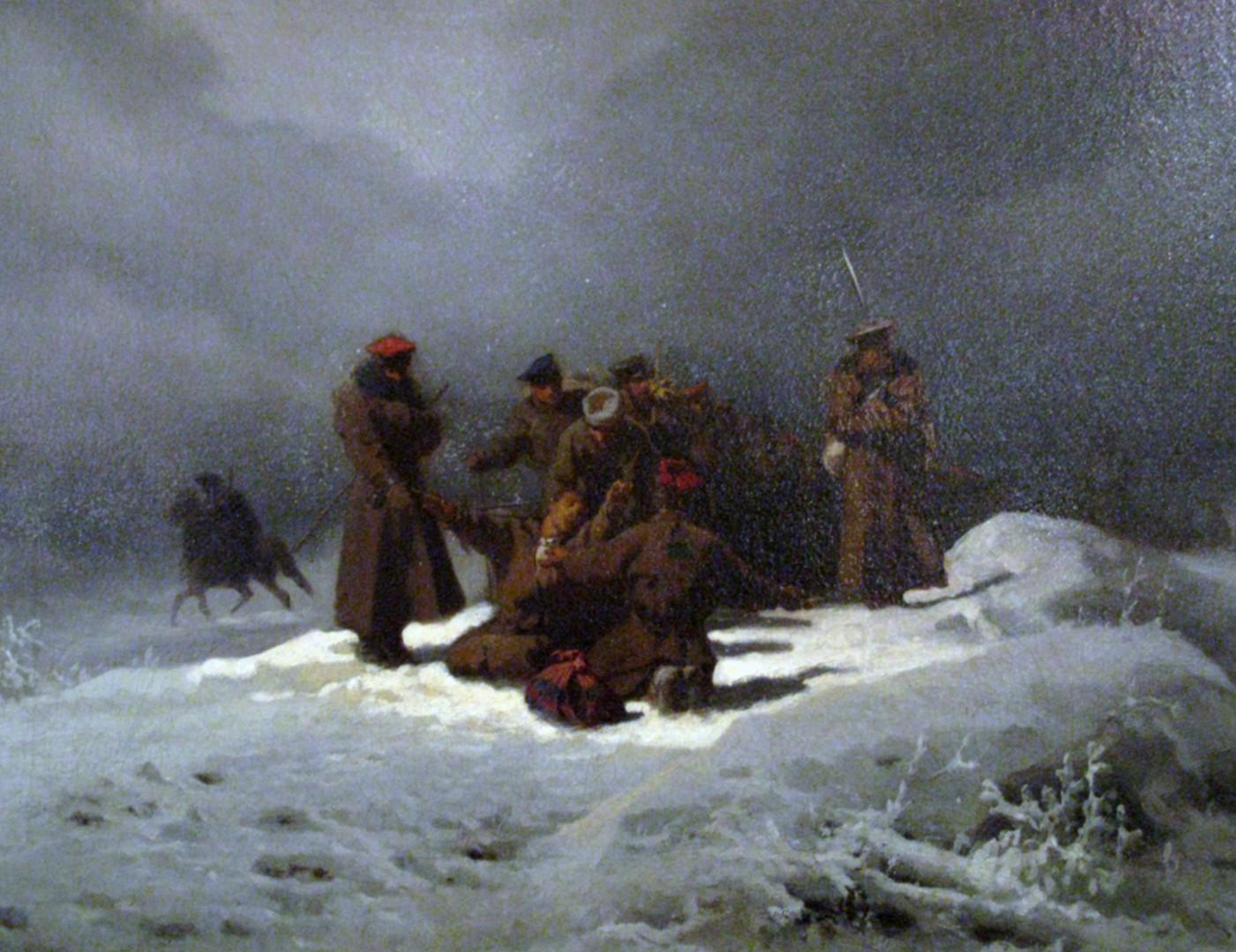 Artur Grottger, Pochód na Sybir, 1866 rok
