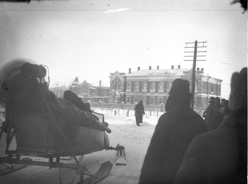 Аэросани на улице Омска 1920-е