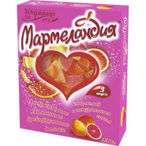 Мармелад Мармеландия дольки апельсин,лимон,грейпфрут картон 330г