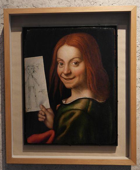 Портрет мальчика с рисунком (куклы)