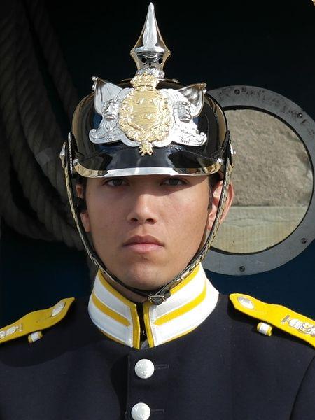 Стокгольм. Королевский гвардеец. Типичный швед