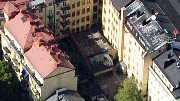 Вид на отель со спутника