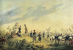 Лермонтов - Бивуак лейб-гвардии гусарского полка под Красным Селом. 1835
