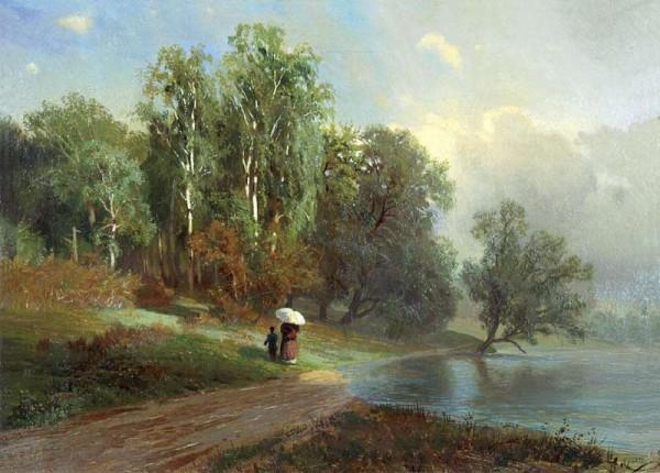 Ф.Васильев. Лето. Речка в Красном Селе. 1870