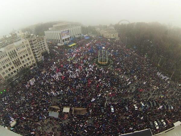 Европейский Майдан в Киеве 24.11.2013