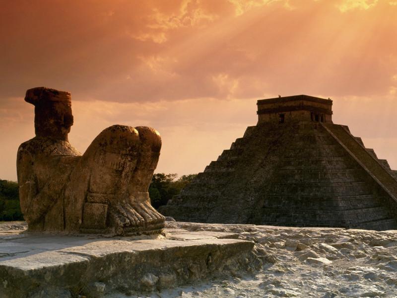 1. Чечен - Ица Вид на пирамиду Кукулькана. Источник http://travelask.ru/mexico/chich-n-itz/chichen-itsa