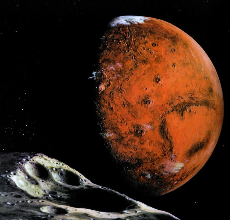 1. Вид Марса с Фобоса. Источник https://kennziffer.blogspot.com/2017/02/ludek-pesek.html