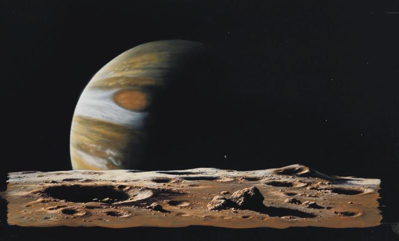 2. Вид Юпитера с Ио. Источник https://www.christies.com/lotfinder/Lot/ludek-pesek-1919-1999-jupiter-rises-above-5636093-details.aspx