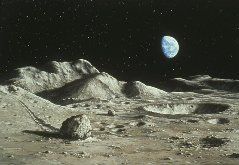 4. Вид Земли с Луны. Источник https://kennziffer.blogspot.com/2017/02/ludek-pesek.html