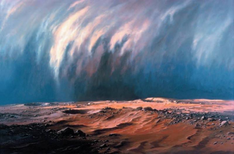 6. Пыльная буря на Марсе. Источник https://kennziffer.blogspot.com/2017/02/ludek-pesek.html