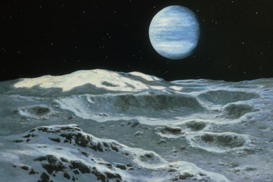 10. Вид Нептуна из Тритона. Источник https://www.art.com/products/p22110134628-sa-i7598880/ludek-pesek-neptune-seen-from-triton.htm