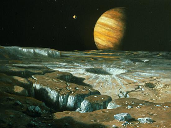 11. Вид Юпитера с Европы. Источник https://www.art.com/products/p22110134628-sa-i7598880/ludek-pesek-neptune-seen-from-triton.htm