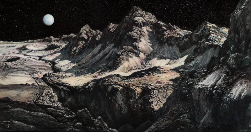 12. Лунный ландшафт. Источник  https://twitter.com/humanoidhistory/status/910392508651257856