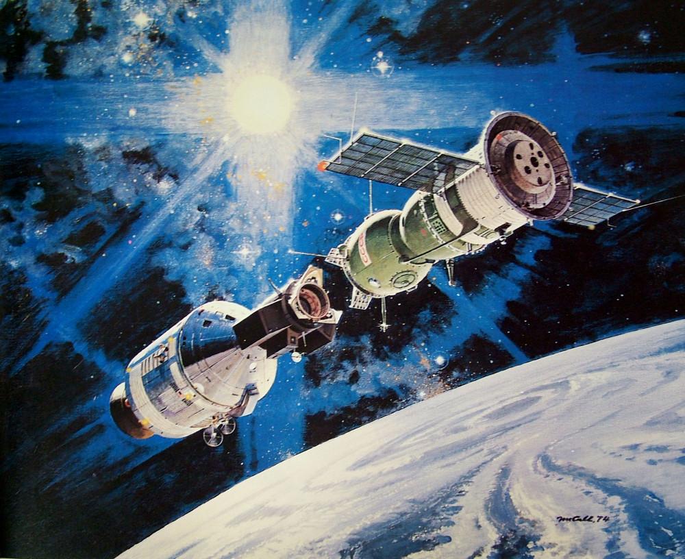 """3. Стыковка """"Союза"""" и """"Apollo"""", 1974"""