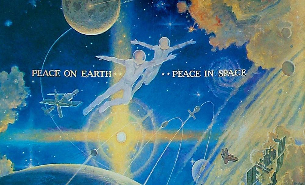 10. Мир на Земле - мир в космосе. Фрагмент мурала. 1990
