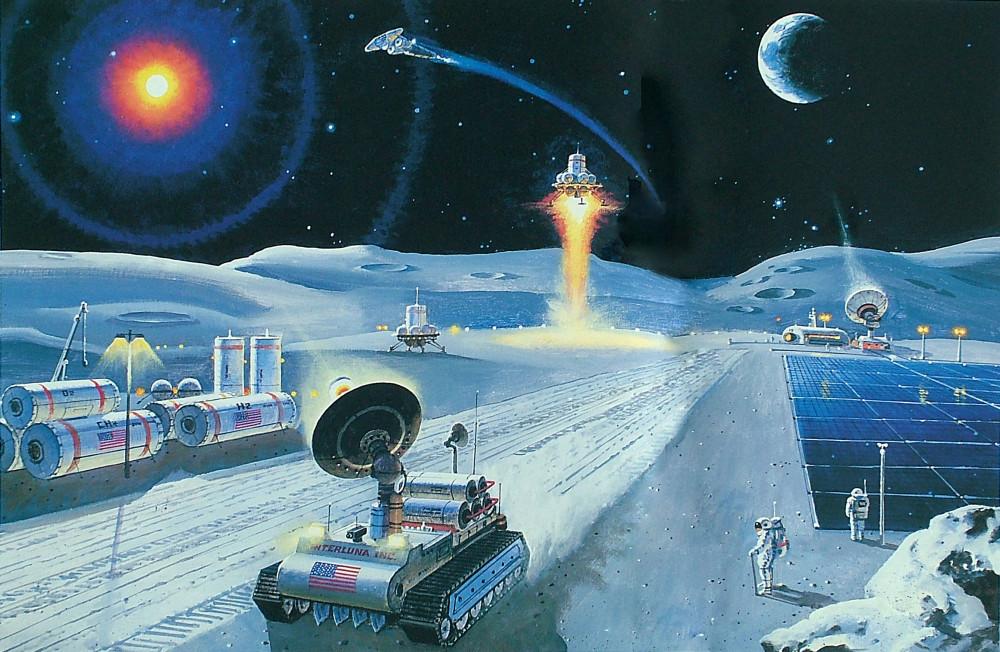 13. Обработка лунной поверхности. 1991