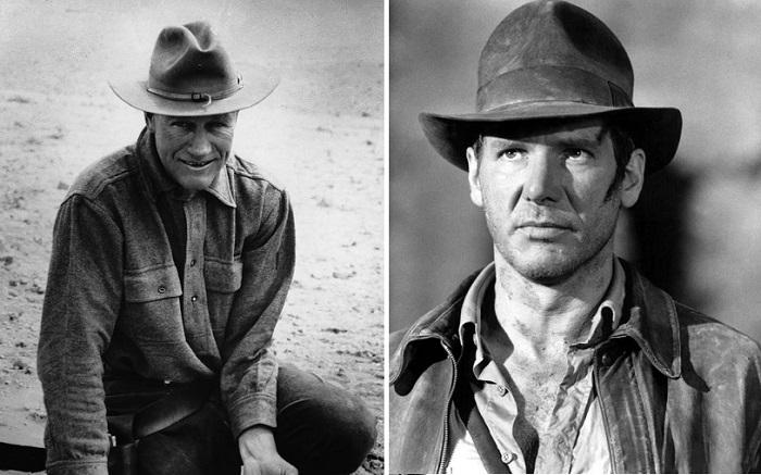 3. Настоящий Индиана Джонс слева. Он профессор палеонтологии. Справа - актер. https://kulturologia.ru/blogs/121217/37004/