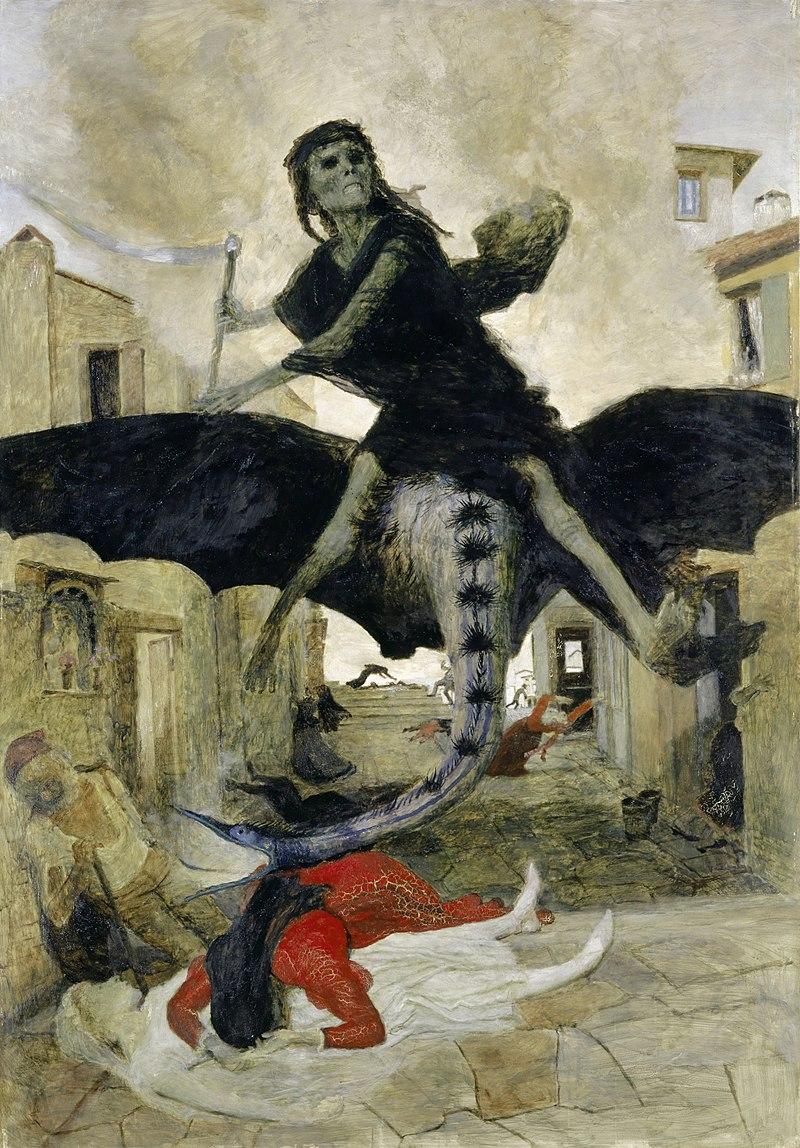 "2. Арнольд Бёклин. ""Чума"".1898, Вики."
