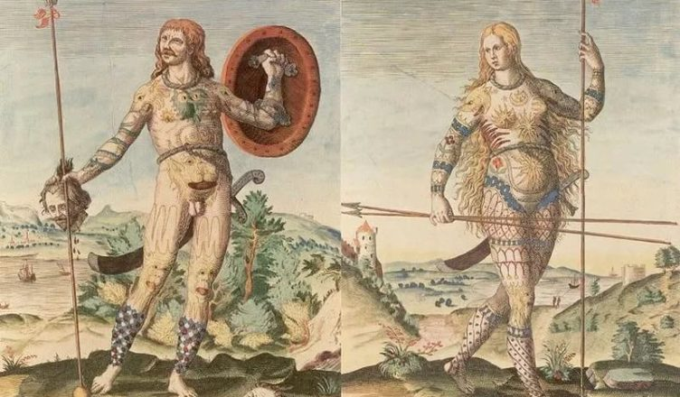 1. Пикты. Колоризованная гравюра Теодора Де Бри, 1588 год. Источник http://history-doc.ru/kto-takie-pikty/