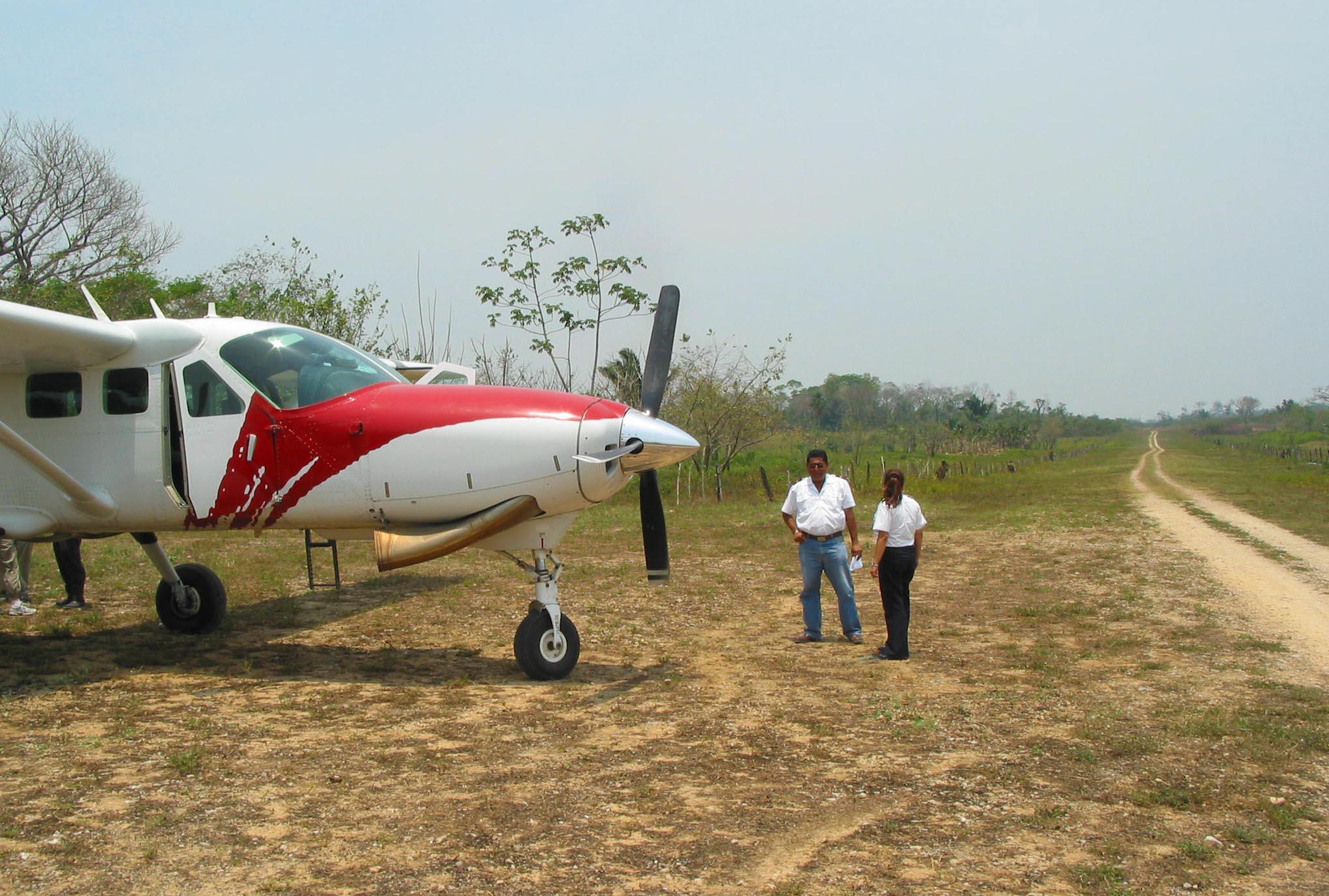 After landing in La Tecnica