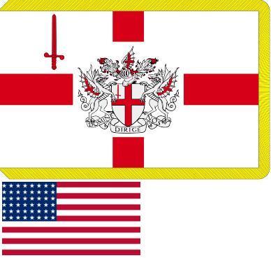 Флаги графства Лондонский Сити и США