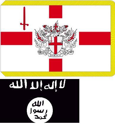 Флаг графства Лондонский Сити и терармии МИ6 ИГИЛ