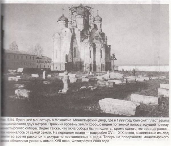 Занесенные здания и подвалы. Лужецкий Монастырь