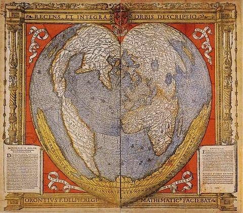 Карта Оронтеуса Фине