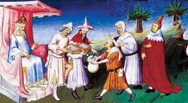 Хубилай принимает дары венецианцев