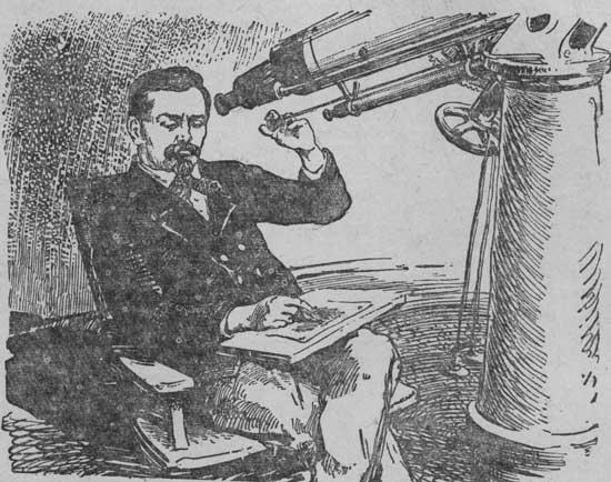 Д. Скиапарелли у телескопа.