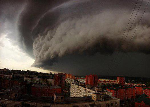 Буря подходит к Москве
