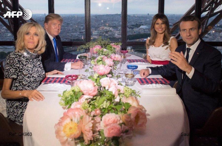 Трамп в Париже.