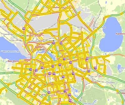 Пробки в Екатеринбурге