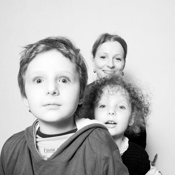 Ксения Кутепова с детьми, фото Алексей Никишин