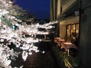 любование природой как хобби (терасса ресторана в Киото)