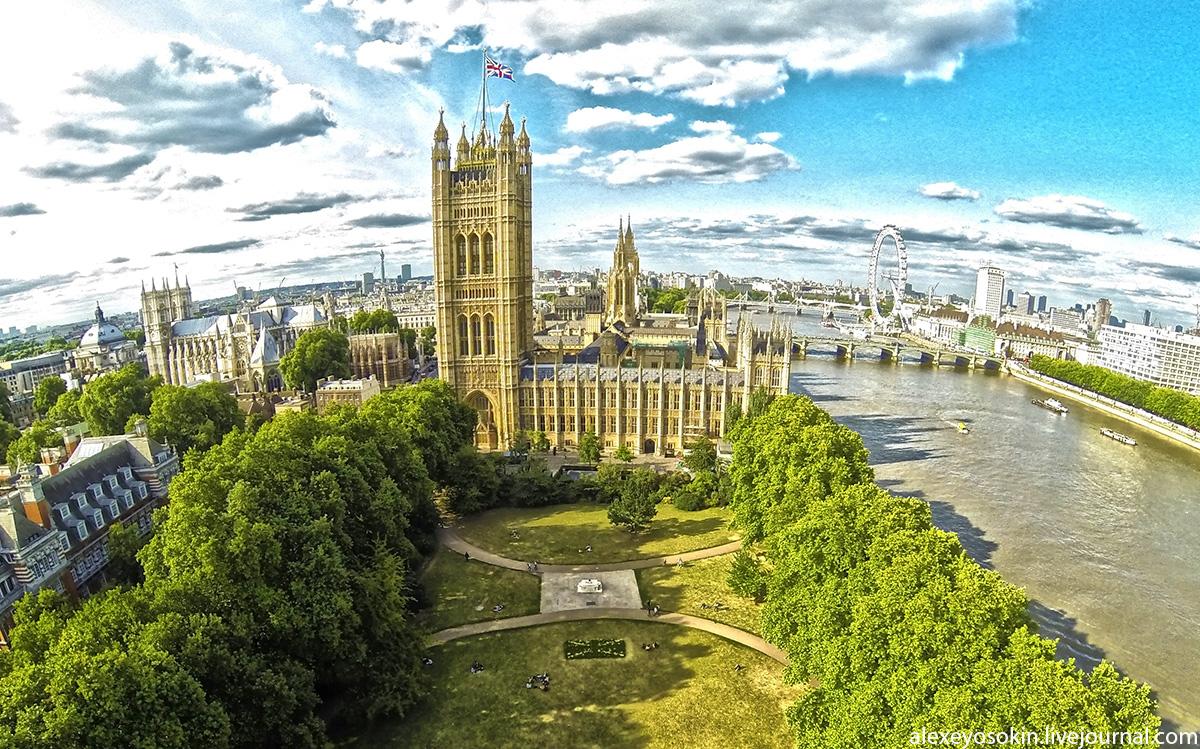 лондон с высоты птичьего полета фото высокого разрешения