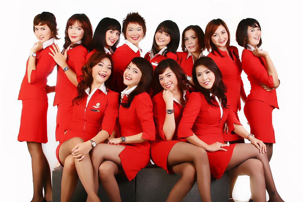 Азиатки форме стюардессы