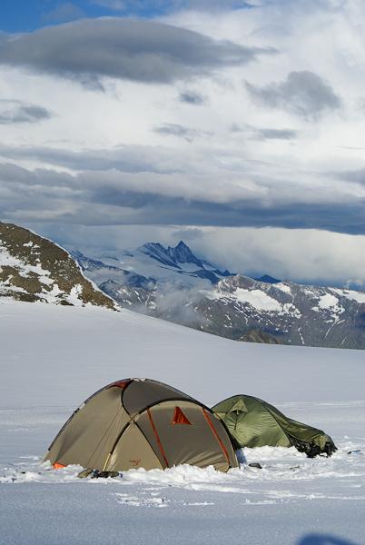 Лагерь на Ледниковом плато