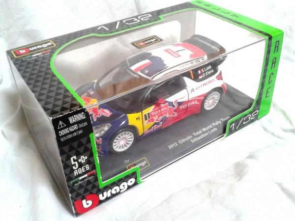 Citroen DS3 WRC 2012 Loeb bburago diecast